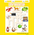 letter l crossword concept vector image vector image