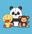 little cute animals group vector image vector image