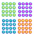 mobile game ui collection of icons and buttons vector image vector image