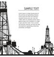 Oil rig banner for your text vector image vector image