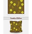 Pillow Green Floral Pattern vector image