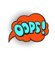 pop art style sticker vector image vector image
