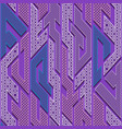 purple geometric pattern vector image vector image