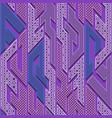 purple geometric pattern vector image