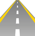 road with a broken white stripe vector image vector image