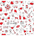 romantic seamless pattern valentines day vector image vector image