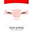 santa claus face smile christmas greeting text vector image vector image