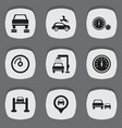 set of 9 editable traffic icons includes symbols vector image vector image
