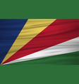 seychelles flag flag of seychelles blowig in the vector image vector image