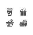 special offer delete order and ice tea icons vector image