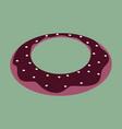 sweet dessert in flat design donut vector image vector image
