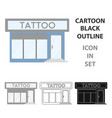 tattoo salon building parlor icon cartoon single vector image vector image