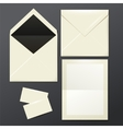 template of white Envelopes paper and postage vector image vector image