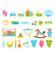 toys and childish objects set vector image vector image