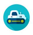 tractor crawler icon vector image vector image
