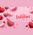 valentine s day sale banner or greeting card vector image vector image