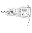 what you must know about pet health insurance vector image vector image