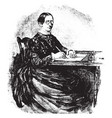 woman writing or writing on parchment vintage vector image vector image