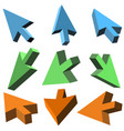 3d cursors on white background vector image