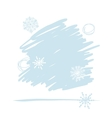 Abstract background with snowflakes for your vector image vector image