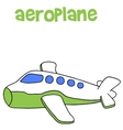 Aeroplane cartoon art vector image