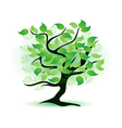 art green tree vector image vector image