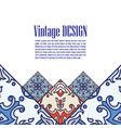 banner azulejos in portuguese tiles style fo vector image
