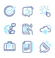 business icons set included icon as hand baggage vector image vector image