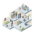 business office isometric corporate building vector image vector image