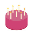 cake round shape poster vector image
