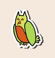 cartoon owl background halloween poster vector image vector image