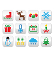 Christmas winter buttons set vector image vector image
