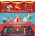Circus Performance Horizontal Banners vector image vector image
