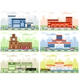 City departments buildings vector image