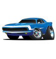 classic american muscle car hot rod cartoon vector image