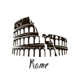 colosseum in italy vector image vector image