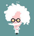 Crazy professor in white coat Nutty Scientist vector image