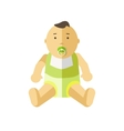 Cute little baby 0-12 months vector image vector image