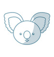 cute shadow koala face cartoon vector image vector image