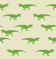 dinosaur tyrannosaurus silhouette pattern seamless vector image