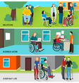 Disabled People Banners Set vector image vector image