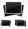 Empty photo frames vector image vector image