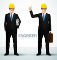 engineer character vector image
