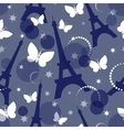 Fashion seamless background on blue vector image