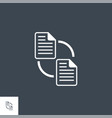file exchange related glyph icon vector image