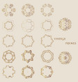 flat design elements in vintage style drawing vector image vector image