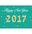 Happy New Year 2017 Floral decor vector image vector image