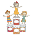 kids with jam 5 vector image