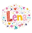 Lena female name design decorative lettering type vector image vector image