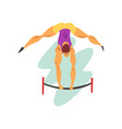 male athlete on balance beam professional vector image